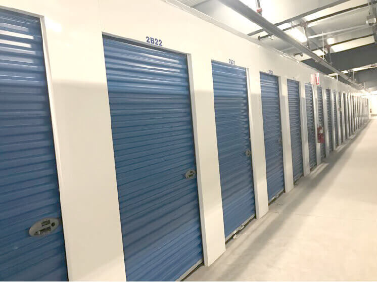 Blue unit doors